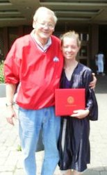 Amy Mittinger with Father at her OSU commencement