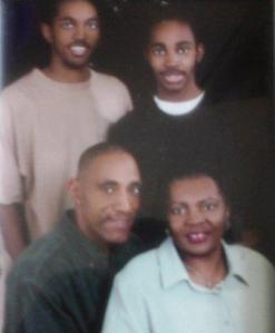 Lawrence Family Bottom Row: Kenneth and Romena  Top Row Left to Right: Kenneth Lawrence, II and Keenan